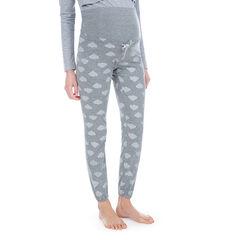 Pantalón homewear de premamá con nubes estampadas all over