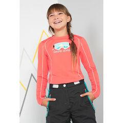 Júnior - Camiseta de esquí de manga larga con máscara estampada