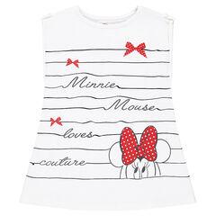 Camiseta de manga corta de rayas de fantasía Disney con estampado Minnie