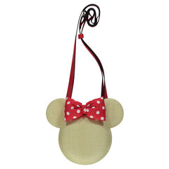 Bolso con efecto paja Disney Minnie con tira regulable