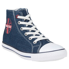 Zapatillas de deporte de caña alta con cordones con sujeción mediante elástico de jean