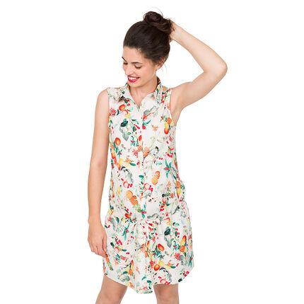Vestido premamá con estampado de frutas all-over