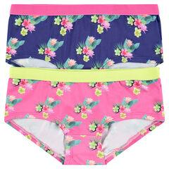 Júnior - Pack de 2 culottes cortos con estampado de foto
