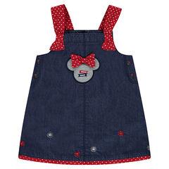 Vestido de cambray Disney con perfil de Mininie cosido
