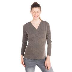 Camiseta manga larga para el embarazo Lúrex con rayas