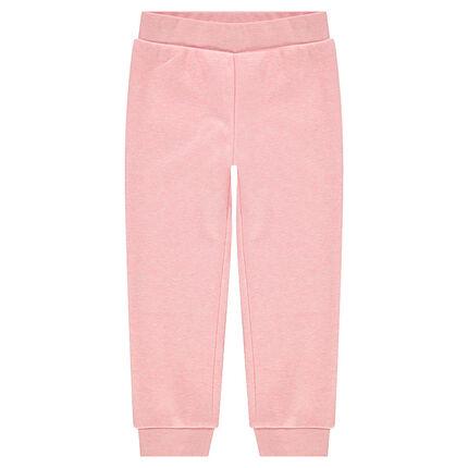 Pantalón de jogging de muletón con bolsillos en el bolsillo