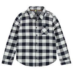 Júnior - Camisa de manga larga a cuadros