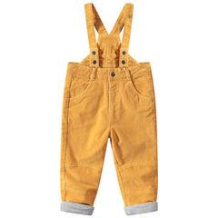 Pantalón amarillo de pana con tirantes ajustables