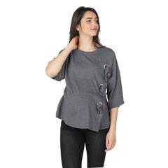Camiseta de premamá asimétrica con lazos