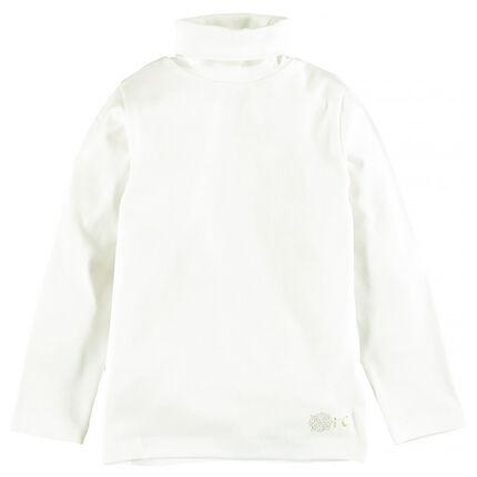 Camiseta interior cuello vuelto de algodón stretch