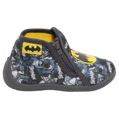 Zapatillas con forma de botines con cremallera y estampado de ©Warner Batman