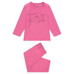 Pijama de punto con estampado de fantasía