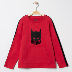 Camiseta de manga larga  de algodón bio motivo Batman de lentejuelas