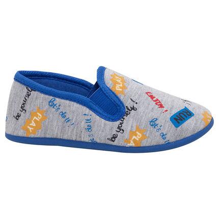 Zapatillas bajas de punto con textos estampados