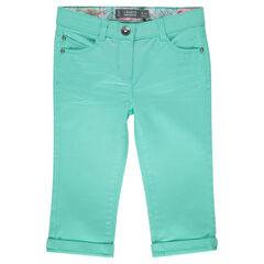 Pantalón corto de sarga lisa