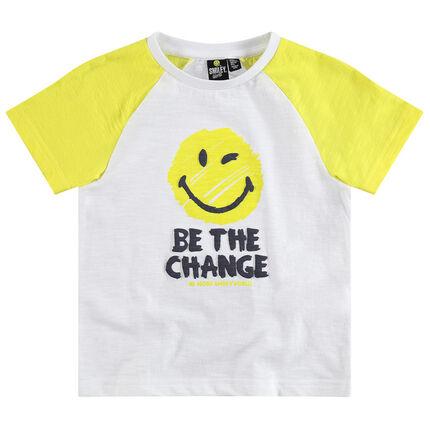 Camiseta de manga corta raglán con estampado de ©Smiley