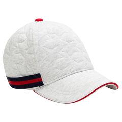Gorra de felpa con estrellas de relieve y banda que contrasta