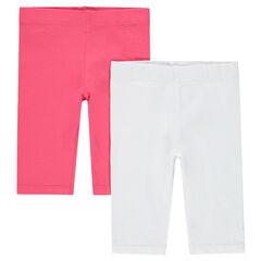 Juego de 2 leggings cortos lisos