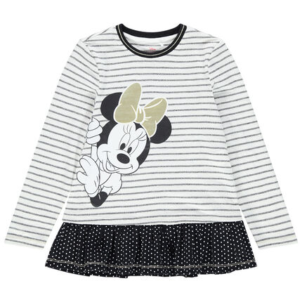Túnica de manga larga a rayas con estampado Minnie Disney