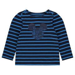 Camiseta marinera de punto con estampado de Mickey