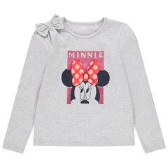 T-shirt manches longues Minnie Disney à sequins pour enfant fille , Orchestra