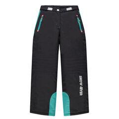 Júnior - Pantalón de esquí con bolsillos de cremallera con aplicaciones turquesa