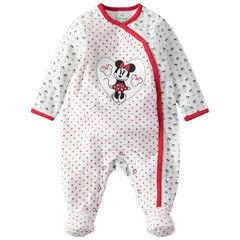 Pijama de terciopelo estampado all over con parche de Minnie
