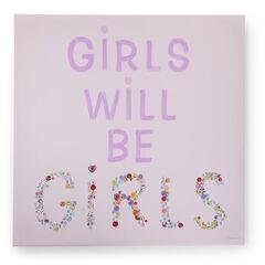 Peinture Girls & buttons 75 x 75 cm