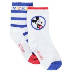 Pack de 2 pares de calcetines de Disney con dibujo de Mickey