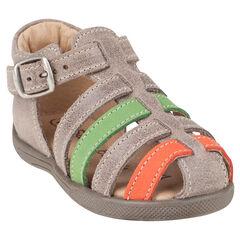 Zapatos descubiertos con correas con hebilla en contraste