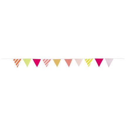 Guirnalda de cumpleaños de fantasía con triángulos de colores