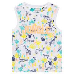 Camiseta de algodón con estampados de fantasía