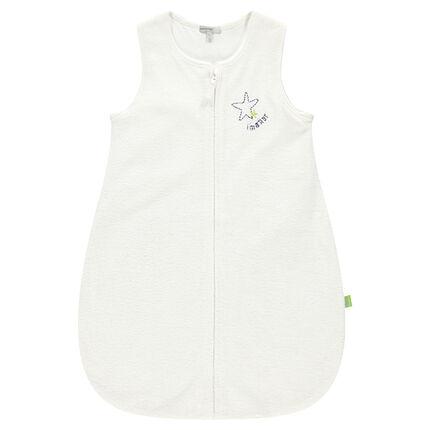 Saquito para dormir de rizo con forro de tejido de punto del nacimiento hasta los 6 meses