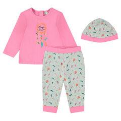 Pack para recién nacido de 3 prendas con camiseta, pantalón y gorro
