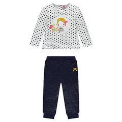 Conjunto de jogging de camiseta de fantasía y pantalón brillante