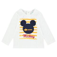 Camiseta de manga larga de punto con parche cosido de ©Disney Mickey