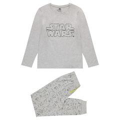 Pijama de punto con estampado de Star Wars fluorescente