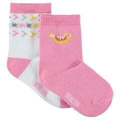 Juego de 2 pares de calcetines con dibujos de jacquard
