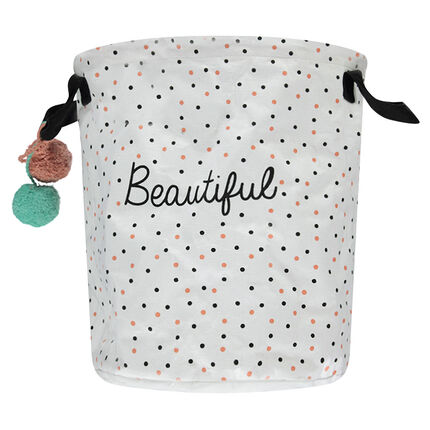 Bolso con lunares estampados all over con pompones