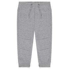 Pantalón de jogging de muletón ligero con cremalleras