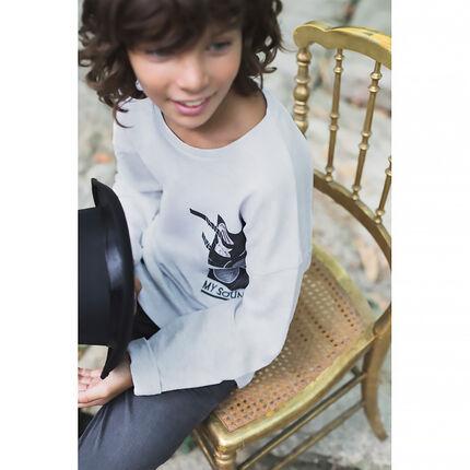 Júnior - Camiseta de manga larga con estampados musicales