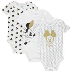 Lot de 3 bodies manches courtes print Minnie Disney