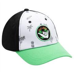 Júnior - Visera tricolor con palmeras estampadas y parche bordado