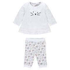 Conjunto de nacimiento reversible túnica legging
