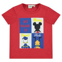 Camiseta de manga corta con estampado de personajes de Disney
