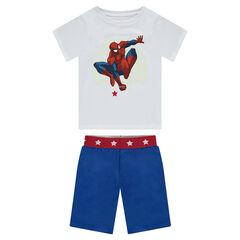 Pijama corto de punto estampado ©Marvel Spiderman fosforescente