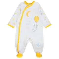 Pijama de terciopelo con estampado de Winnie The Pooh