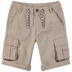 Júnior - Bermudas de algodón de fantasía con bolsillos estilo cargo