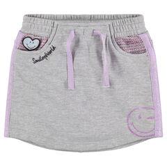 Falda con pantalón corto de felpa con parche y estampado de ©Smiley