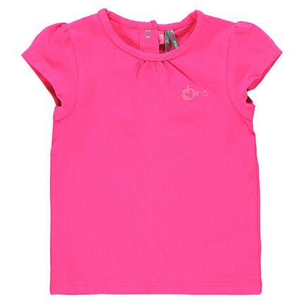 Camiseta con cuello redondo 100% algodón